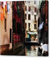 A Walk In Venice Canvas Print