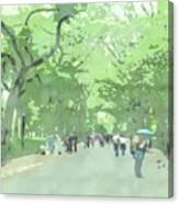 A Walk Through Central Park Canvas Print