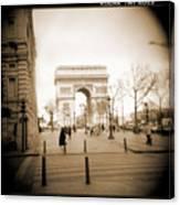 A Walk Through Paris 3 Canvas Print