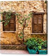 A Wall In Chania Canvas Print
