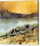 A Warm Sandy Place Canvas Print
