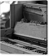A Weathered Piano Canvas Print