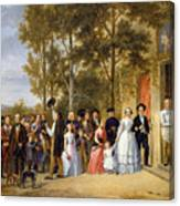 A Wedding At The Coeur Volant Canvas Print
