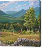 A  White Mountain View Canvas Print