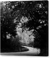 A Winding Road Bw Canvas Print