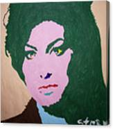 A J Winehouse Canvas Print