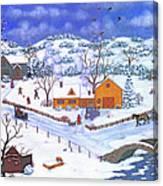 A Winter Evening Canvas Print