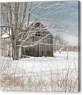 A Winters Day Square Canvas Print