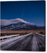 A Winters Meteor Canvas Print