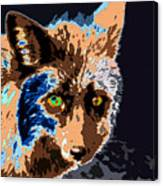 A Wolf Staring Canvas Print