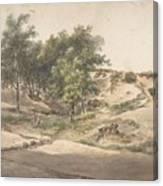 A Wooded Landscape Near Beekhuizen Canvas Print