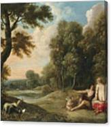 A Wooded Landscape With Venus Adonis And Cupid Canvas Print