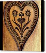 A Wooden Heart Canvas Print