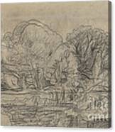 A Woodland Pond Canvas Print