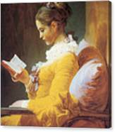 A Young Girl Reading Canvas Print
