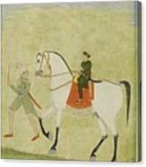 A Young Prince On Horseback Canvas Print