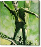 A Zombie In Herne Bay Canvas Print
