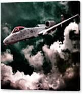 A10 Thunderbolt In Flight Canvas Print