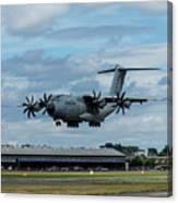 A400m Plane Lands Canvas Print