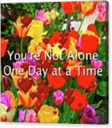 Aa One Day At A Time Canvas Print