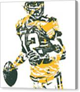Aaron Rodgers Green Bay Packers Pixel Art 15 Canvas Print