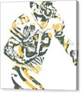 Aaron Rodgers Green Bay Packers Pixel Art 22 Canvas Print