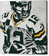 Aaron Rodgers Green Bay Packers Pixel Art 4 Canvas Print