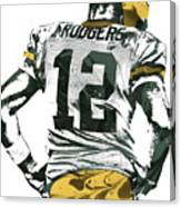 Aaron Rodgers Green Bay Packers Pixel Art 6 Canvas Print
