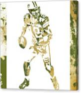 Aaron Rodgers Green Bay Packers Water Color Art 1 Canvas Print