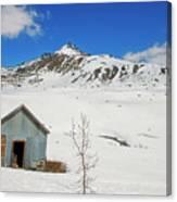 Abandon Building Alaskan Mountains Canvas Print