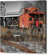 Abandon Caboose Canvas Print
