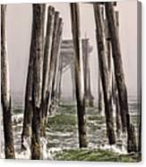 Abandon Pier Thru The Fog Canvas Print