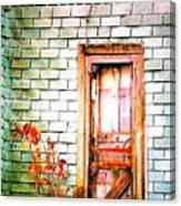 Abandonded Farm Door Canvas Print