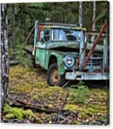 Abandoned Alaskan Logging Truck Canvas Print
