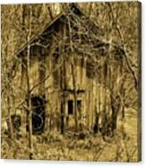 Abandoned Barn In Woods Canvas Print