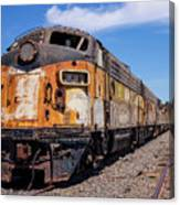 Abandoned Bessemer And Lake Erie Trains Schellville California Canvas Print
