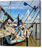 Abandoned Boat - Houston, Tx Canvas Print