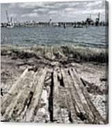 Abandoned Boat Slip Canvas Print