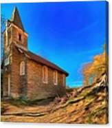 Abandoned Church Of Abandoned Village Paint - Chiesa Abbandonata Di Paesino Abbandonata Paint Canvas Print