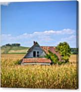 Abandoned Corn Field House Canvas Print