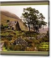 Abandoned Cottage - Scotland H A With Decorative Ornate Printed Frame Canvas Print