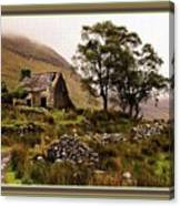 Abandoned Cottage - Scotland H B With Decorative Ornate Printed Frame Canvas Print