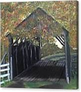 Abandoned Covered Bridge  Canvas Print