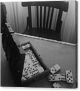 Abandoned Domino Set Canvas Print