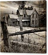 Abandoned Farm House Canvas Print