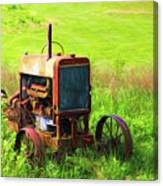 Abandoned Farm Tractor Canvas Print