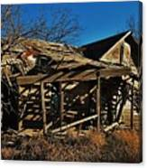 Abandoned Farmhouse In Kansas Canvas Print