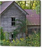 Abandoned Farmhouse On Stacy Fork Canvas Print
