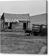 Abandoned Ford Truck And Shed Canvas Print