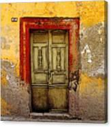 Abandoned Green Door 2 Canvas Print